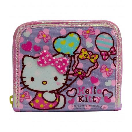 Hello Kitty PVC閃料銀包 12厘米闊x10厘米高