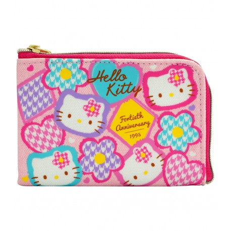 Hello Kitty 40週年帆布証件套 11.5厘米闊x8厘米高