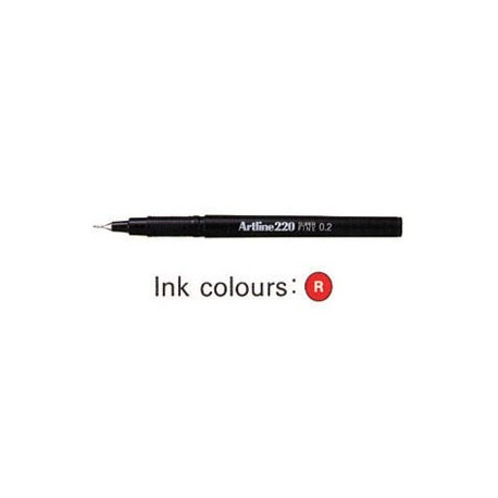 Artline 220 Sign Pen Red