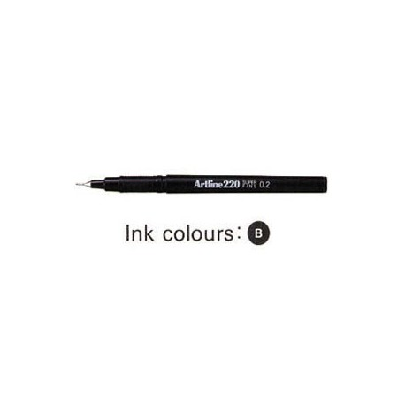 Artline 220 Sign Pen Black