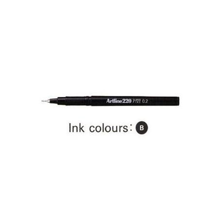 Artline 220 Sign Pen Black