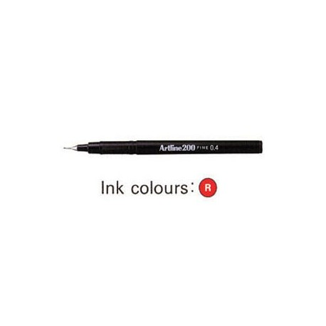Artline 200 Sign Pen Red
