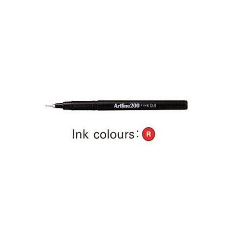 Artline 200 Sign Pen Red