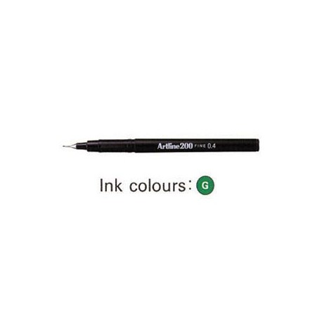 Artline 200 Sign Pen Green