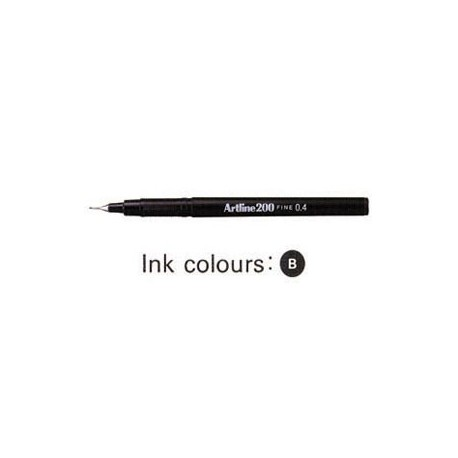 Artline 200 Sign Pen Black