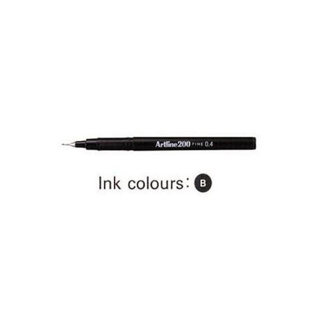 Artline 200 Sign Pen Black
