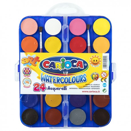 CARIOCA Watercolor Powder Cake 24-Color