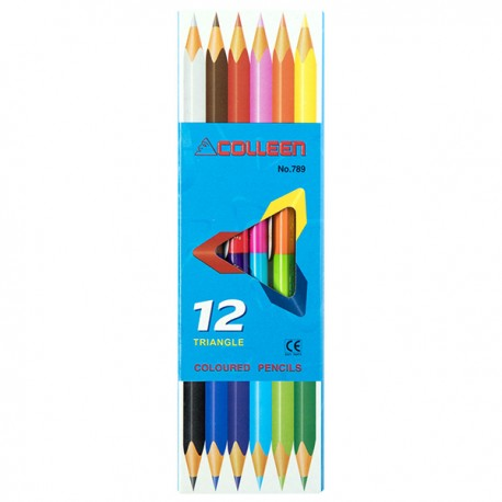 Colleen Double Ended Triangle Color Pencils 12-Color Dia.3mm