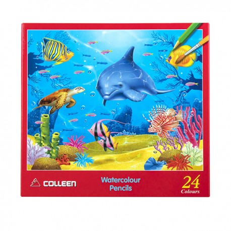 Colleen 水溶性木顏色 色芯直徑3.8毫米 特粗筆芯 24色