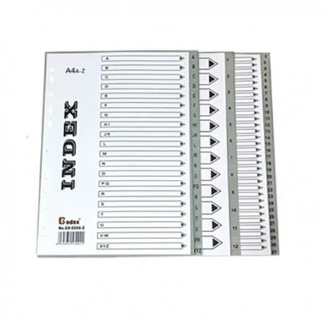 Godex GX-IN015 PVC Index A4 A-Z