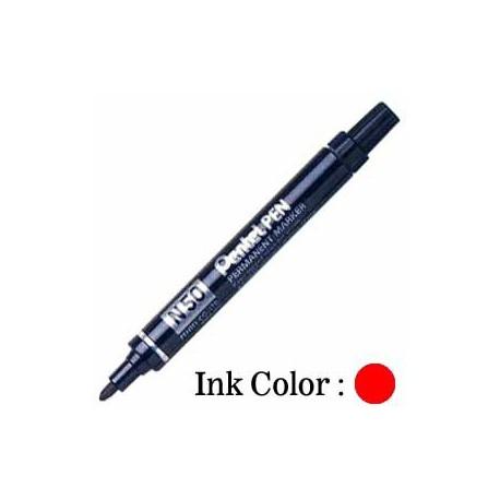 Pentel N50 Permanent Marker Bullet Black/Blue/Red