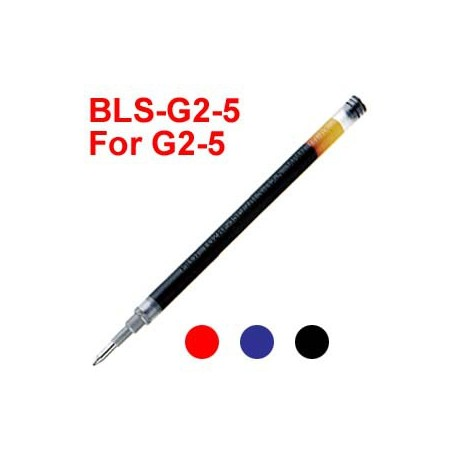 Pilot BLS-G2-5 Gel Pen Refill For G2-5 0.5mm Black/Blue/Red