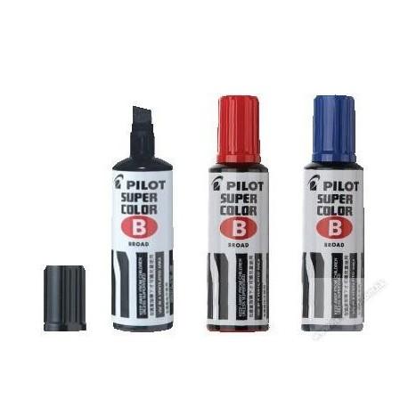 Pilot SC-BM Super Color Permanent Marker Short Chisel Black/Blue/Red