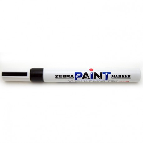 Zebra 200M Paint Marker Black/Blue/Red/Green/Golden/Silver/White