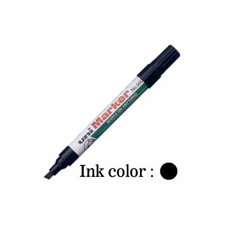 Uni 580B Permanent Marker Chisel Black/Blue/Red/Green