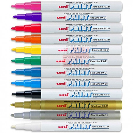 Uni PX-21 Paint Marker Black/Blue/Red/Green/Orange/Golden/Silver/White