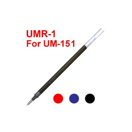 Uni UMR-1 Gel Pen Refill For UM-151 Black/Blue/Red