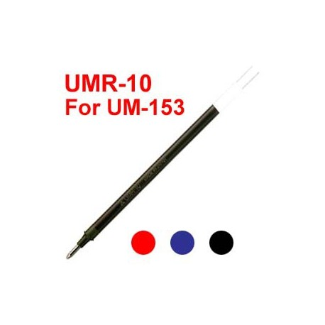 Uni UMR-10 Gel Pen Refill For UM-153 Black/Blue/Red