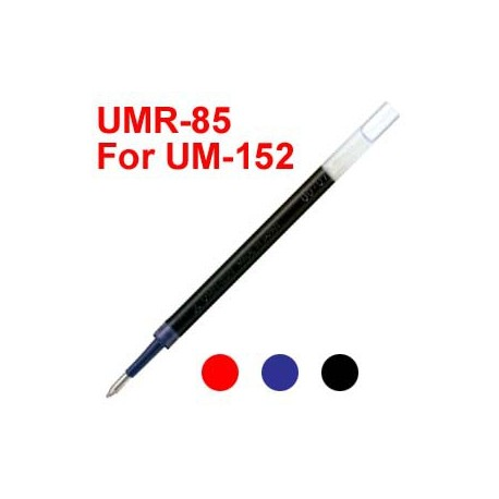 Uni UMR-85 Gel Pen Refill For UM-152 Black/Blue/Red