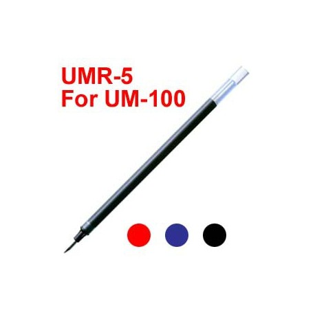 Uni UMR-5 Gel Pen Refill For UM-100 Black/Blue/Red