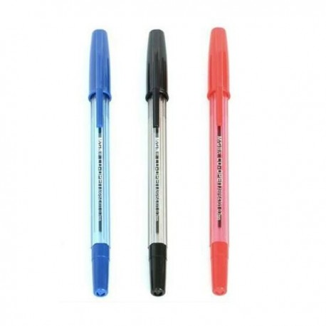 M & G ABP-64701 Capped Ball Pen 0.7mm Black/Blue/Red