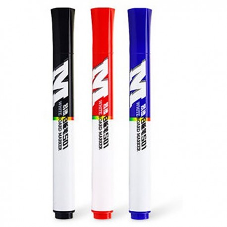 M & G AWMY-2201 Whiteboard Permanent Marker Black/Blue/Red