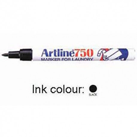 Artline 750 Laundry Permanent Marker Bullet Black/Blue/Red