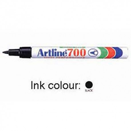 Artline 700 Permanent Marker Point Black/Blue/Red/Green