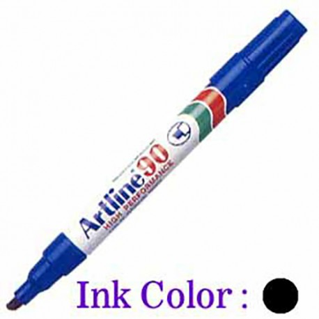 Artline 90 Permanent Marker Chisel Black/Blue/Red/Green/Orange/Purple/Brown