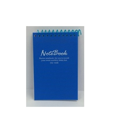 "Wire Ring Note Book w/Plastic Cover 3""x4"" Top Wire"