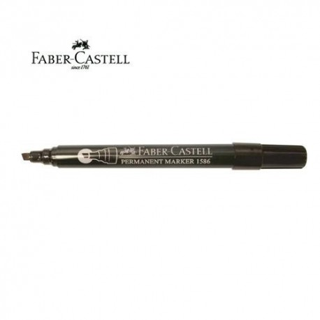 Faber Castell 1586 Permanent Marker Chisel Black/Blue/Red