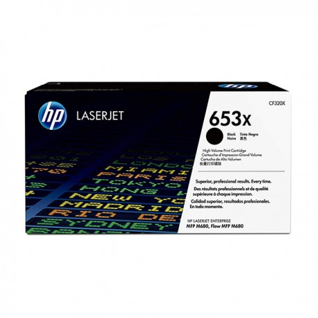 HP CF320X 653X High Yield Black Original LaserJet Toner Cartridge