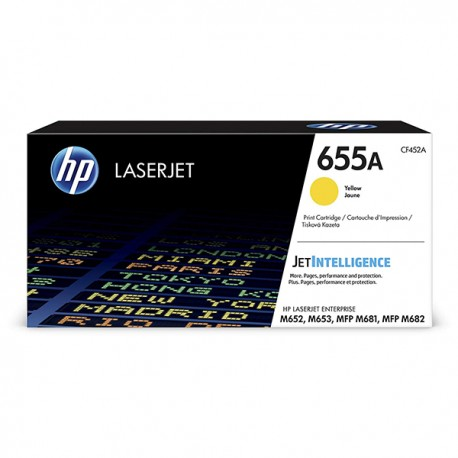 HP CF452A 655A Yellow Original LaserJet Toner Cartridge