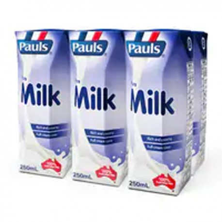 Pauls UHT Full Cream Milk 250ml 6Packs