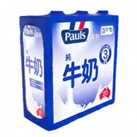 Pauls UHT Full Cream Milk 1Litre 3Packs