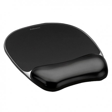 Fellowes 9112101 Crystal Mouse Pad /Wrist Rest Black