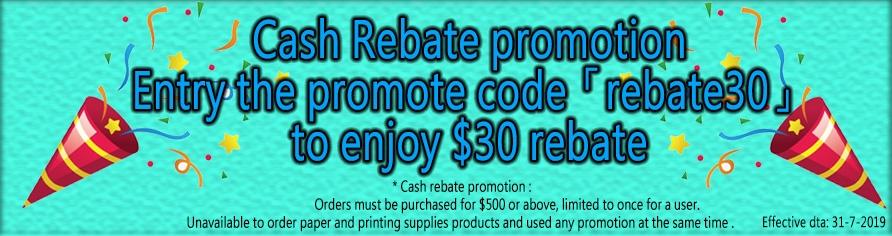 $30 cash rebate
