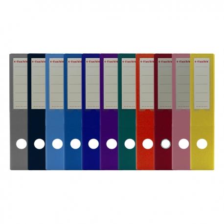 e-Flexible 包膠硬皮快勞 A4 3吋 黑色/藍色/深藍色/淺藍色/紅色/綠色/黃色/橙色/紫色/粉紅色/灰色