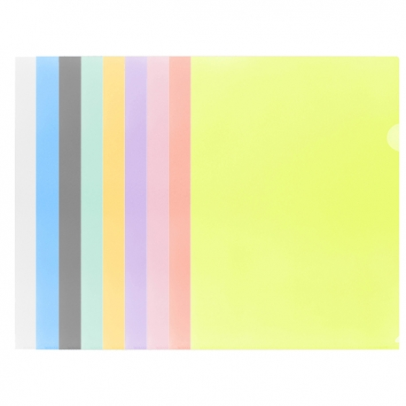E310 Plastic Folder A4 Clear/Blue/Smoky/Green/Orange/Purple/Red/Pink/Yellow