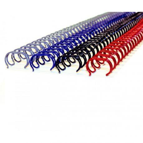 M&A 3:1 雙線釘裝鐵圈 A4 12.7-16毫米 50條 黑/藍/銀色