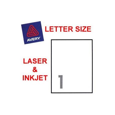 艾利 5165 郵寄標籤 215.9毫米x279.4毫米 100個 白色