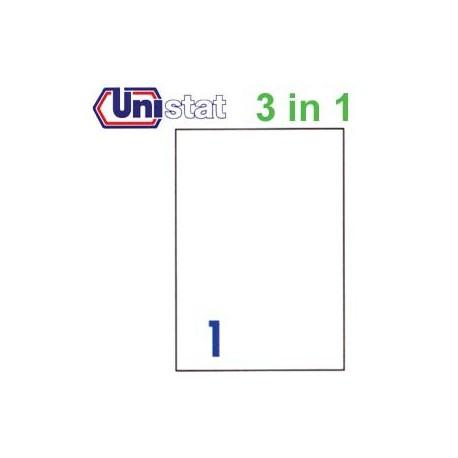 Unistat U4428 多用途標籤 A4 210毫米x297毫米 100個 白色