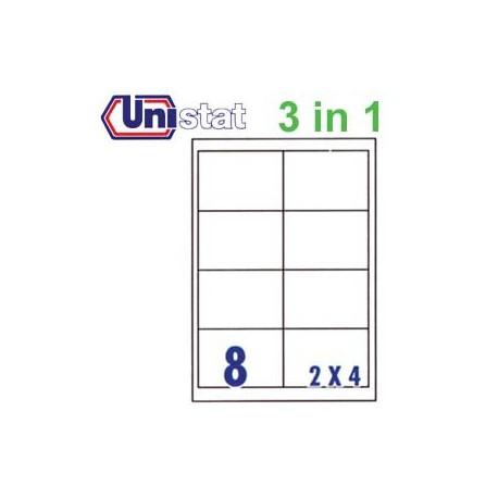 Unistat U4280 多用途標籤 A4 96.5毫米x67.7毫米 800個 白色