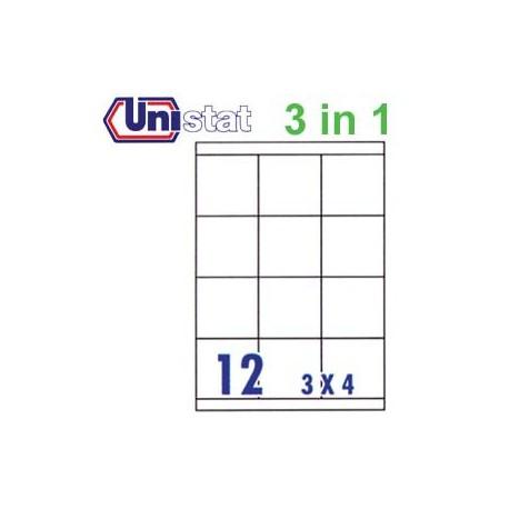 Unistat U4279 多用途標籤 A4 70毫米x67.7毫米 1200個 白色