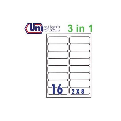 Unistat U4267 多用途標籤 A4 99.1毫米x33.8毫米 1600個 白色