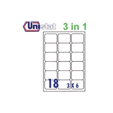 Unistat U4265 多用途標籤 A4 63.5毫米x46.6毫米 1800個 白色