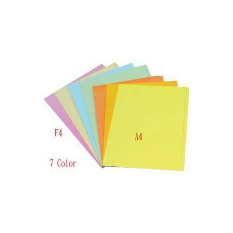 紙質文件套 F4 米/藍/綠/橙/粉紅/黃/金黃色
