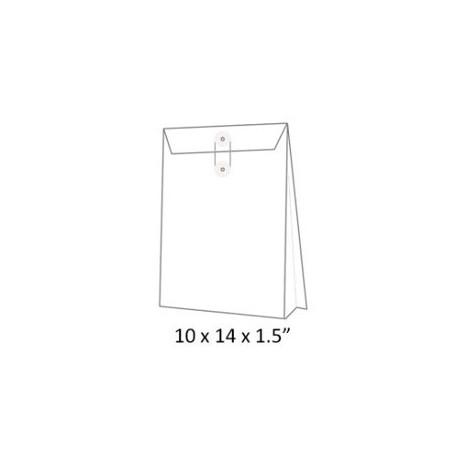風琴式有繩公文袋 10吋x14吋x1.5吋 白色
