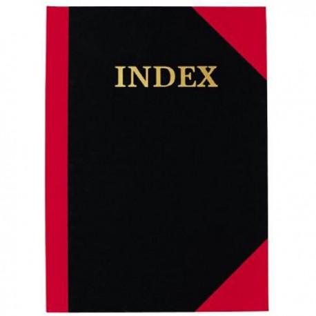 Rise 紅黑硬皮索引簿 A-Z 8吋x13吋 100頁