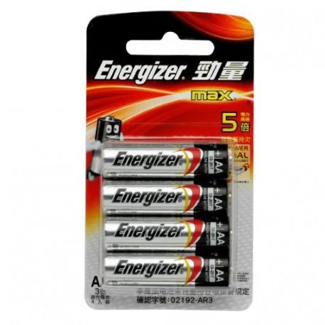 Energizer 勁量 鹼性電池 3A 4粒
